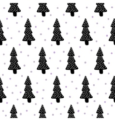 Pine trees pattern vector