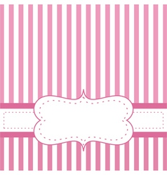 Pink card invitation for baby shower or wedding vector image vector image