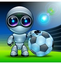 robot football vector image