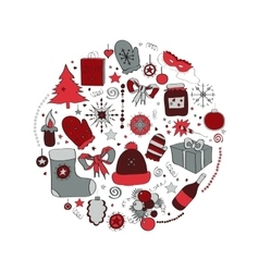 set Christmas symbols the vector image