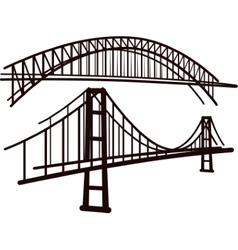 Set of bridges vector