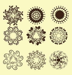 Set of vintage design elements12 vector