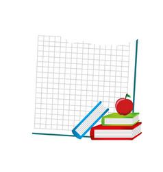 Set school supplies icons vector