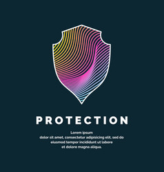 Shield a symbol of protection and reliability vector