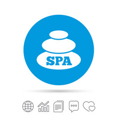 Spa sign icon spa stones symbol vector