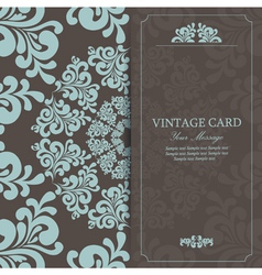 Vintage invitation card dark vector