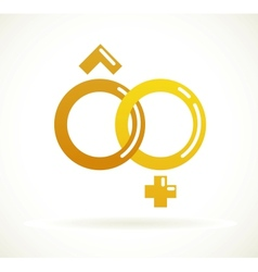 Wedding icon - golden rings vector image