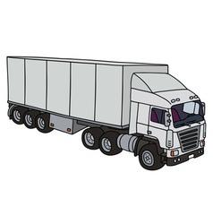 White semitrailer truck vector image vector image