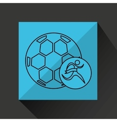 Winner silhouette sport soccer icon vector