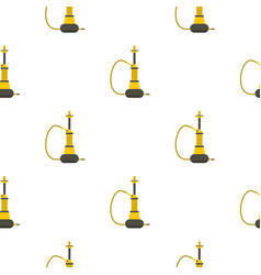 Yellow hookah pattern seamless vector