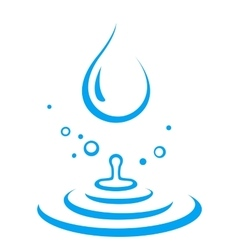 Splash of water droplet vector