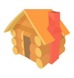 Small hut icon cartoon style vector