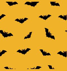 Halloween bat fly seamless pattern vector
