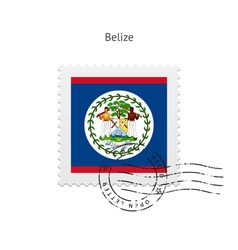 Belize flag postage stamp vector