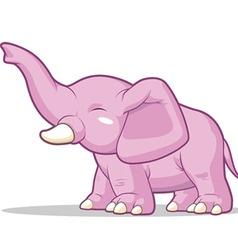 Elephant raising its trunk vector