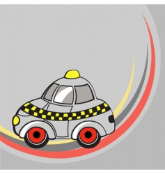 cartoon taxi car vector image