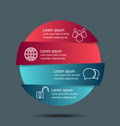 Circle banners infographic template vector