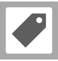 Tag flat dark gray and white colors rounded button vector
