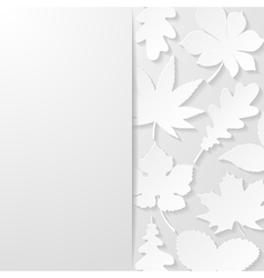 Abstract background with paper leaves vector image