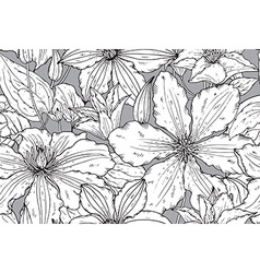 Floral seamless pattern on with hand drawn vector