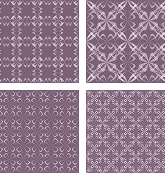 Vintage seamless pattern background set vector