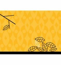 autumn leafs vector image
