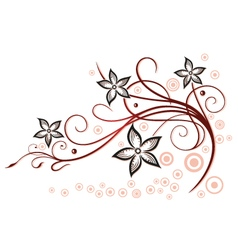 Summer time flowers vector