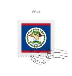 Belize flag postage stamp vector
