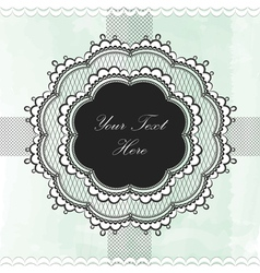 Black vintage lace border vector