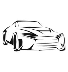 Car silhouette line icon vector