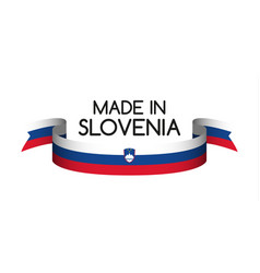 colored ribbon with the slovenian tricolor vector image vector image