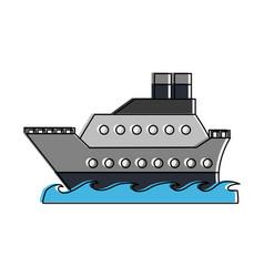Cruise ship symbol vector