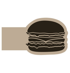 Dark contour humburger icon vector