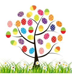 easter tree with eggs vector image vector image