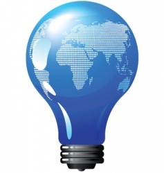 environmental concept light bulb globe vector image vector image