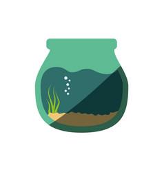 Fishbowl aquarium bowl vector