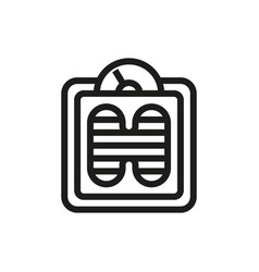 floor scales icon on white background vector image vector image