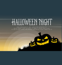 halloween with pumpkin background style vector image