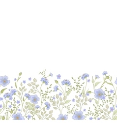 Horizontal seamless border with cute little vector image vector image