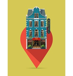 Hotel on a Pin vector image vector image