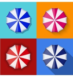 modern umbrella icons set vector image