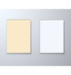 Realistic Paper Notepad Notebook Set vector image vector image