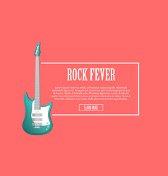 rock forever poster with acoustic guitar vector image