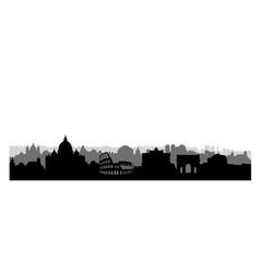 Rome city buildings silhouette italian urban vector