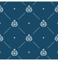 Seamless pattern background baroque vector image vector image
