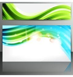 Set of banners with abstract lines vector image