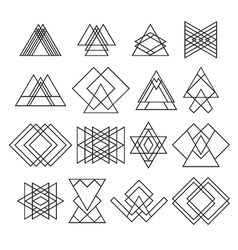 Set of trendy hipster geometric shapes Geometric vector image vector image