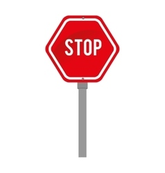 Signal transit stop warning design vector