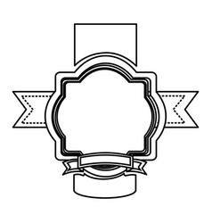 Silhouette heraldic ornament decorative icon vector