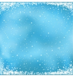 snow on blue background vector image vector image